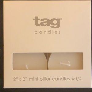 🔥NEW! 2x2 Mini Pillar Candles Set of 4